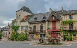 Charmig fransk by arkivfoto