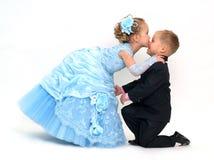 charmig kyss Royaltyfria Foton
