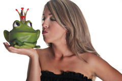 charmig kyssprince Arkivbild