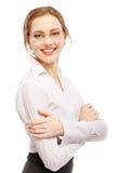 charmig leendekvinna för affär Royaltyfria Bilder