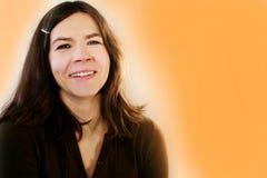 charmig lycklig kvinna Fotografering för Bildbyråer