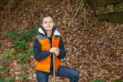 Charmig tonårs- pojke Fotografering för Bildbyråer