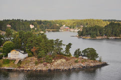 Charmiga öar nära Stockholm Arkivfoto