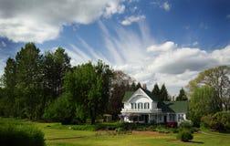 Charmigt historiskt hem Fotografering för Bildbyråer