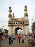 Charminar清真寺在海得拉巴 免版税库存图片