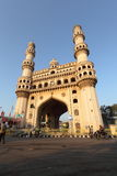 Charminar. Early morning oblique view of Charminar, Hyderabad, India Royalty Free Stock Photography