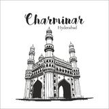 Charminar Hyderabad India Vector royalty free illustration