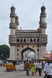 Charminar in Hyderabad, Indien Lizenzfreie Stockfotos