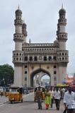 Charminar in Hyderabad, Indien lizenzfreie stockfotos