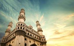 Charminar hyderbad纪念碑和清真寺 库存照片