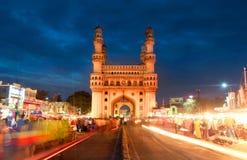 Charminar i Hyderabad arkivbild