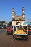 Charminar and market carts Stock Images