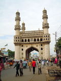 Charminar Mosque in Hyderabad. The historic Charminar Mosque in Hyderabad, India Royalty Free Stock Image