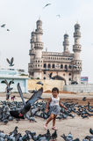 Charminar and Pigeons Stock Photography