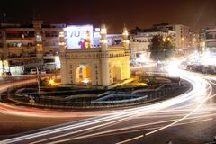 Charminar Rounabout Long Exposure royalty free stock image