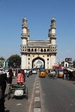 Charminar and Traffic, India Royalty Free Stock Images