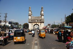 Charminar and Tuk-tuks Stock Photo