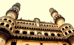 Charminar view, Hyderabad, India. Charminar, which built 400 years, situated in hyderabad, india, consists of four minarets Royalty Free Stock Image
