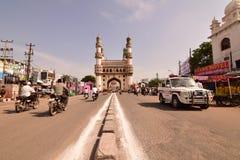Charminaren på Hyderabad Arkivfoton