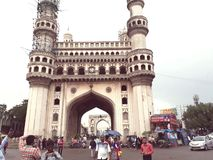 Charminer Hyderabad INDIEN arkivbild
