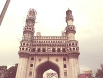 Charminer Hyderabad INDIEN royaltyfri foto