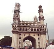 Charminer Hyderabad INDIEN arkivfoto