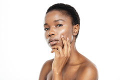 Charming afro american woman with fresh skin Stock Images