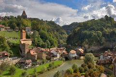 Charming ancient city. Good autumn day in the Swiss small town Stock Photo