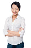 Charming asian girl, casual portrait Royalty Free Stock Photos