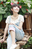 Charming Asian girl outdoor Royalty Free Stock Photo
