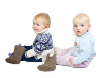 Charming babies Royalty Free Stock Image