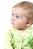 Charming baby. Portrait of a charming baby on a white isolated background Royalty Free Stock Images