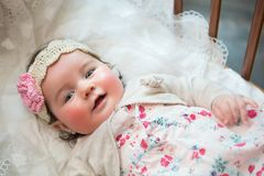 Charming baby - five month old Royalty Free Stock Photos
