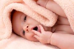 Charming baby girl posing Stock Photography