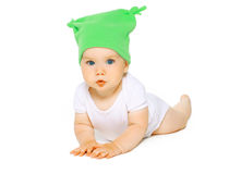 Charming baby in hat Royalty Free Stock Photo