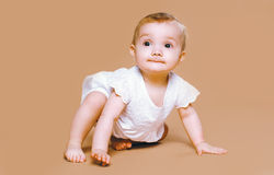 Charming baby playing Stock Photography