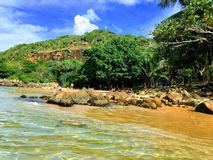 The charming beach of Sri Lanka Island, the Una Vatuna coast Royalty Free Stock Photography