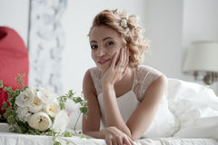 Charming beautiful bride Royalty Free Stock Photography