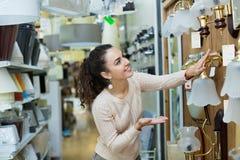 Charming beautiful woman doing shopping Stock Photos