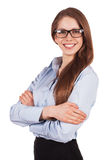Charming young woman in stylish glasses Royalty Free Stock Image
