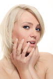 Charming blond flirting Royalty Free Stock Photography