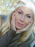 Charming Blond woman Stock Images