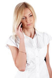 Charming blonde businesswoman Royalty Free Stock Photography