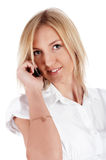 Charming blonde businesswoman Royalty Free Stock Image