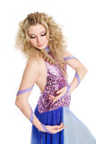 Charming blonde girl in dance. Stock Photos