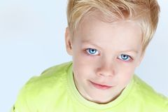 Charming blue eyes Stock Images
