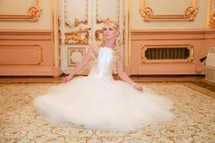 Charming bride blonde Stock Photos