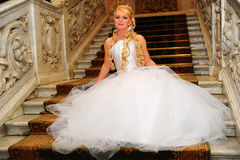 Charming bride blonde Royalty Free Stock Image