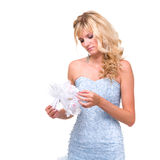 Charming bride with bouquet Royalty Free Stock Images