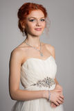 Charming bride in a celebratory dress Royalty Free Stock Photography
